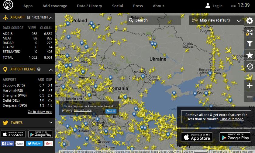 Флай радар 24 онлайн